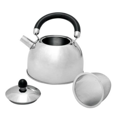 Edelstahl Wasserkessel mit Teesieb