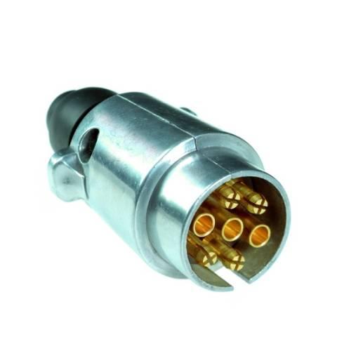 Stecker - 12V, 7-pol., ISO 1724, Metallgehäuse