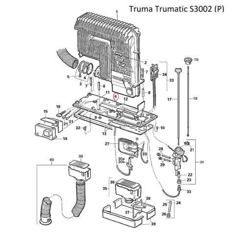 Truma Trumatic Sockel kplt. mit Schrauben