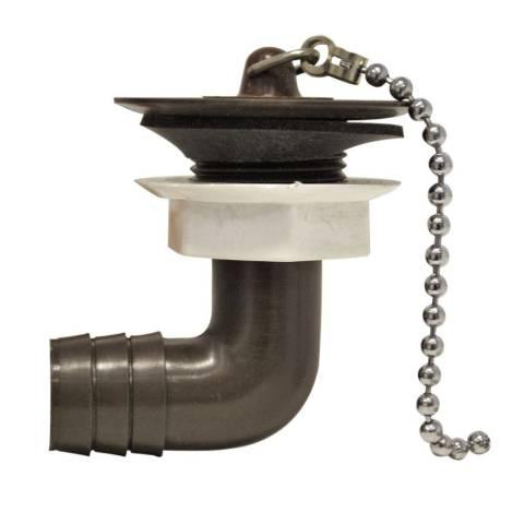 Wasserauslauf 3/4 zoll - braun - abgewinkelt 90°