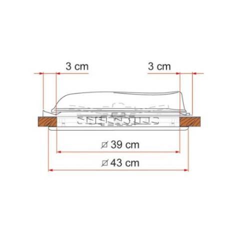 Fiamma Vent 40 Dachhaube - weiß
