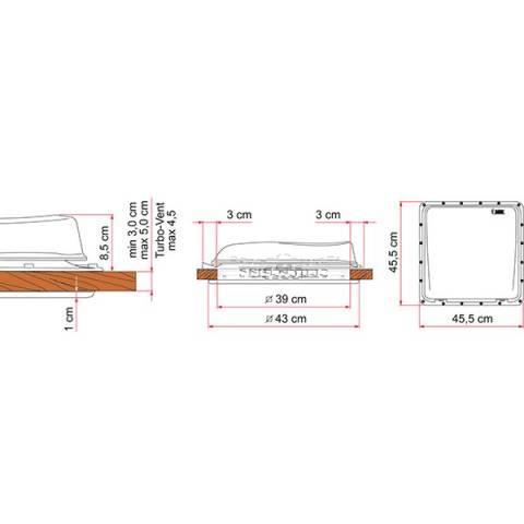 Fiamma Turbo Vent Premium Dachhaube - weiss
