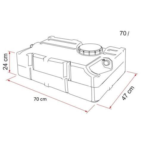 Fiamma Wassertank 70 Liter