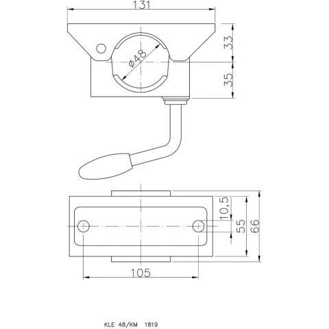 Klemmhalter für Außenrohr ø 48 mm