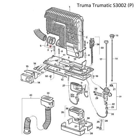 Truma Trumatic O-Ring SL52, Abgasrohrbefestigung alt