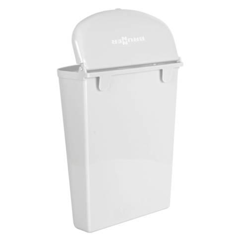 Abfallbehälter Pillar - weiss