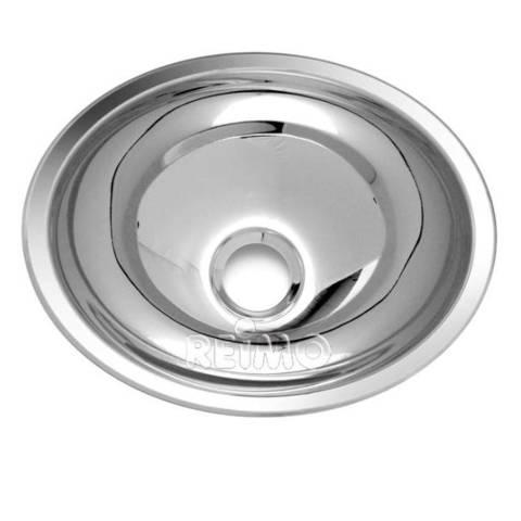 Waschbecken oval Edelstahl, 340mm