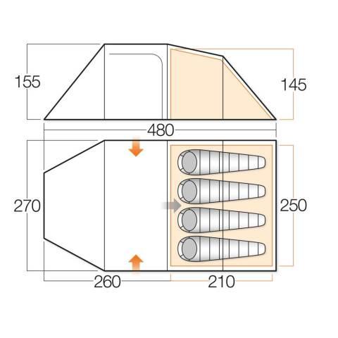 Vango Beta 450 XL Zelt - schwarz