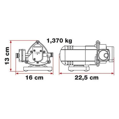 Fiamma AQUA 8 Druckwasserpumpe 7 Liter/min