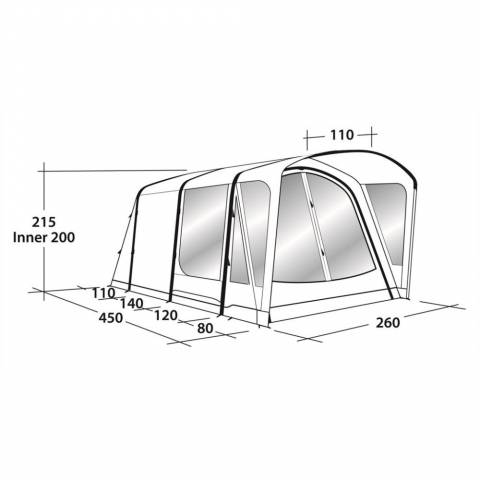 Outwell Mayville 3SA + Universal Front Extension