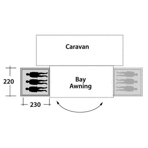 Outwell Bay Annexe Sleep - 2019