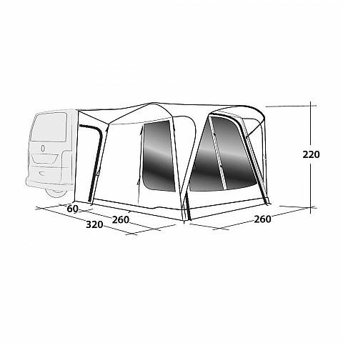 Outwell Milestone Shade Air Buszelt - 2020