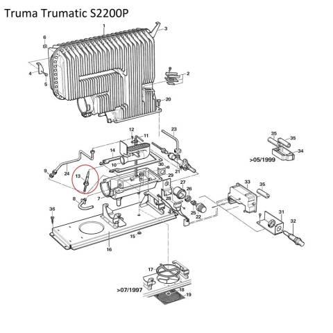 Truma Trumatic - Thermoelement 25 cm + Mutter