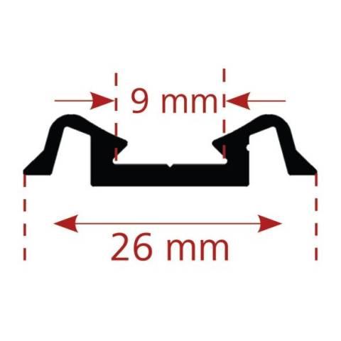 Fries- oder Mittelleiste 26 mm breit
