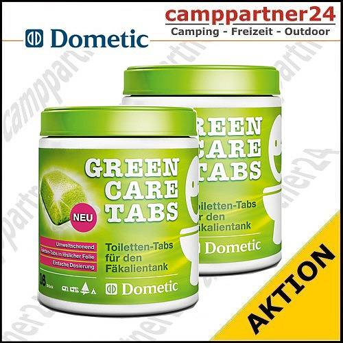 2 x dometic green care tabs 32 st ck camping wc zusatz. Black Bedroom Furniture Sets. Home Design Ideas