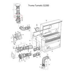 Truma Trumatic Schraubring zu Abgaskamin AK3
