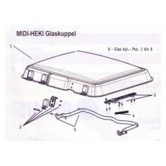 Seitz Midi-Heki Glaskuppel komplett mit Anbauteilen