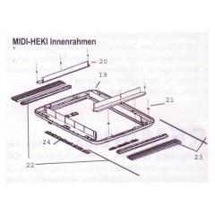Seitz Midi-Heki Innenrahmen komplett für Elektroversion