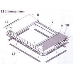 Seitz Heki 2 de Luxe - Verdunkelungsrollo komplett - grau