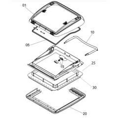 Seitz Mini-Heki Montagerahmen komplett für Dachstärken 25-42mm, lichtgrau