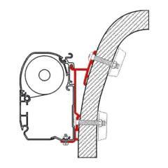 Fiamma Adapter F45i/ F45iL Hymer S+E Klasse