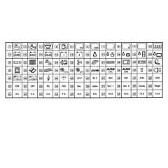 Piktogramm-Folie schwarz selbstklebend