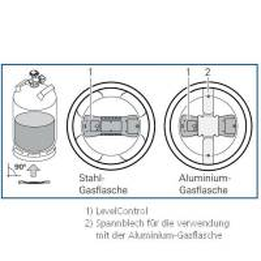 Truma LevelControl - Spannblech für Alu Gasflaschen
