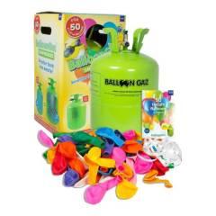 Helium-Ballon-Kit Balloon-Time mit 50 Luftballons