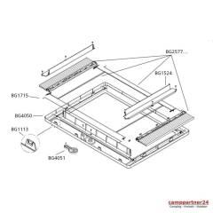 Dometic Innenrahmen ohne Anbauteile Midi Heki