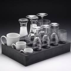 Froli Glas und Tassenhalter