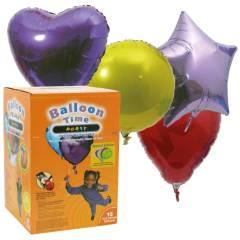 Balloon Time - Ballongas Set 15 Folien Ballons
